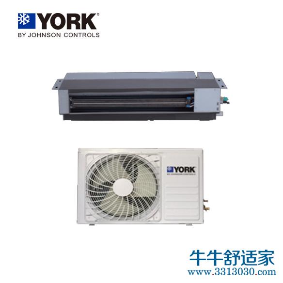 约克中央空调暗藏式分体风管机系列YFCS072型一拖一热泵型