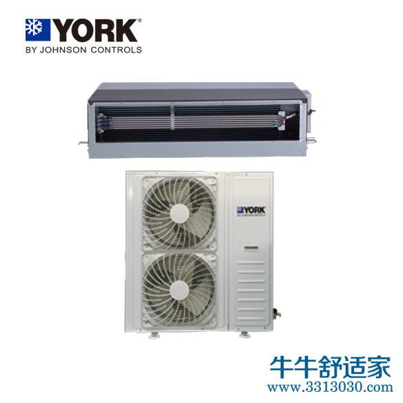 约克中央空调暗藏式分体风管机系列YFCS120型一拖一热泵型